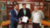 Vuelta Palencia Firma Convenio con BRañosera