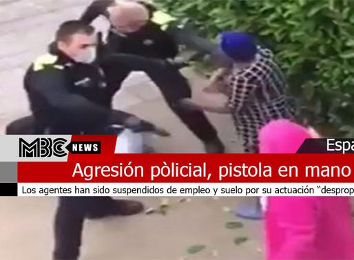 Apartados dos policías al agredir pistola en mano a dos jóvenes por no confinarse