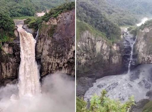 La catarata más grande de Ecuador desapareció