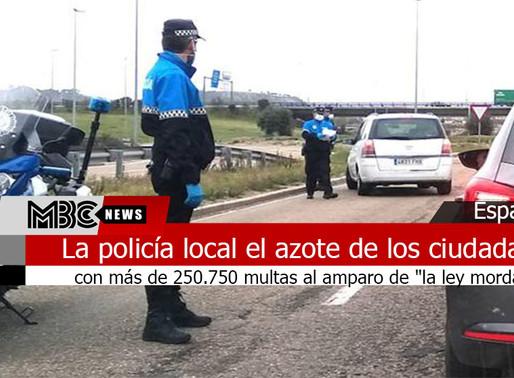 """La policía local el azote de los ciudadanos con más de 250.750 multas al amparo de """"la ley mordaza"""""""