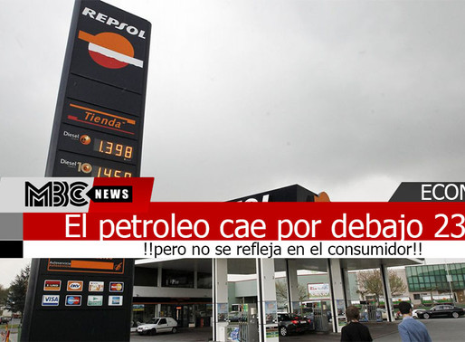 El precio  barril de petroleo cae por debajo de los 23 dólares pero no se refleja en el consumidor