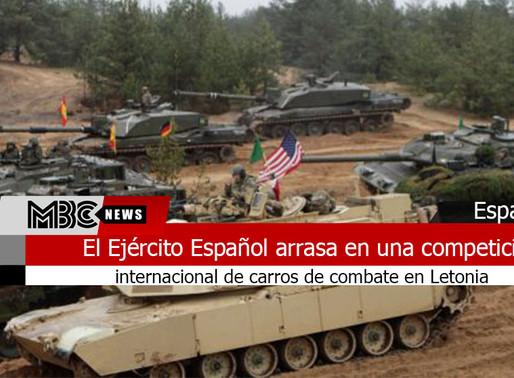 El Ejército Español arrasa en una competición internacional de carros de combate en Letonia
