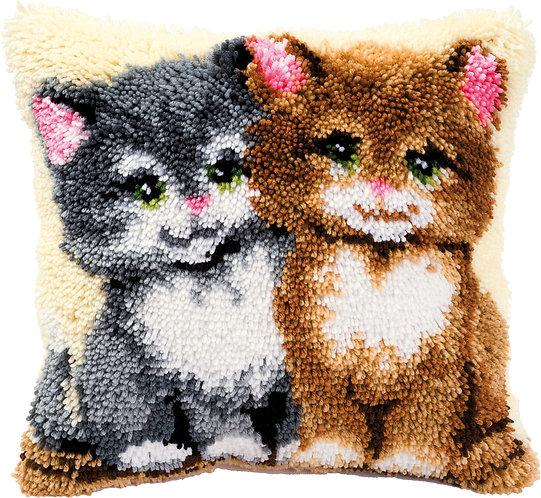 VERVACO Latch Hook Cushion Kit Cats - PN-0014131