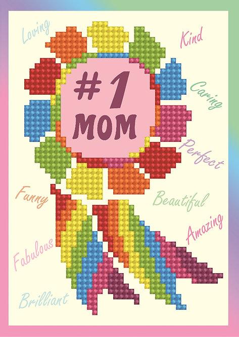 Diamond Dotz Greeting Card - Number 1 Mom (DDG.015)