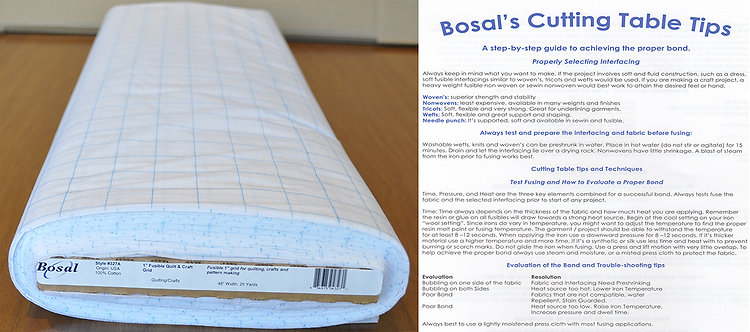 Bosal Fusible Quilt & Craft Grid