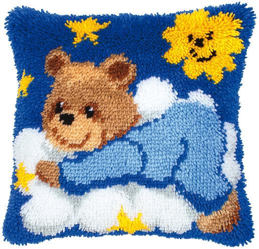 VERVACO Latch Hook Cushion Kit Blue Bear Cub on Cloud - PN-0014186