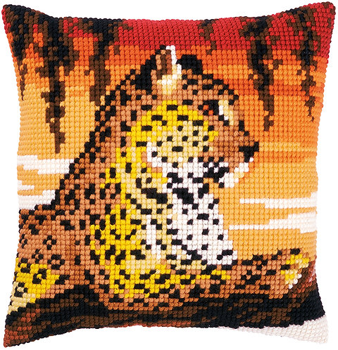 VERVACO Cross Stitch Cushion Kit Leopard - PN-0162253
