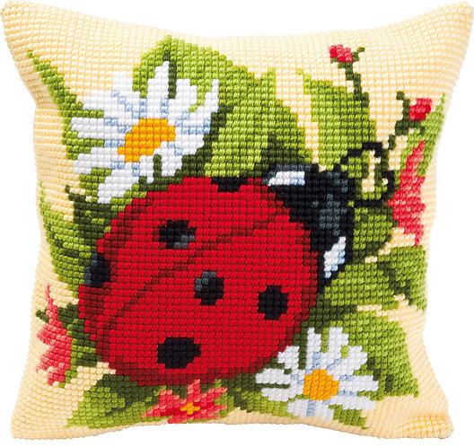 VERVACO Cross Stitch Cushion Kit Ladybird - PN-0008586
