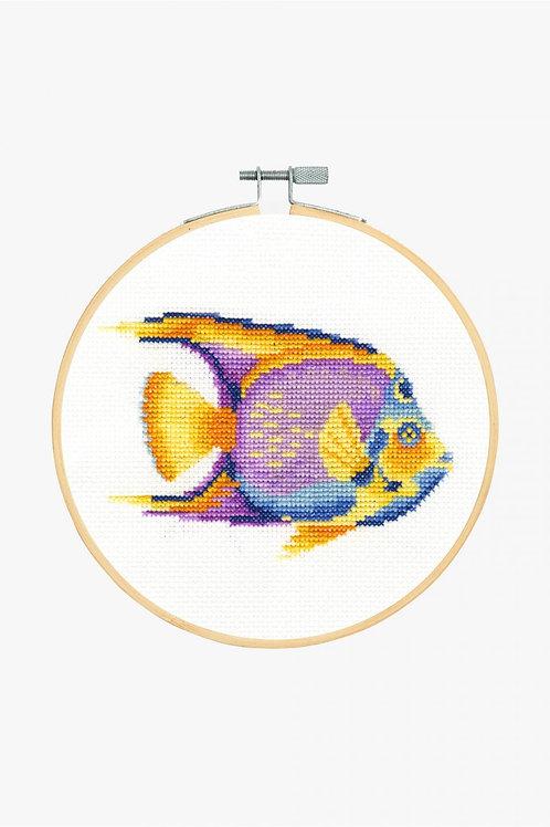 DMC Cross-Stitch Hoop Tropical Fish BK1875