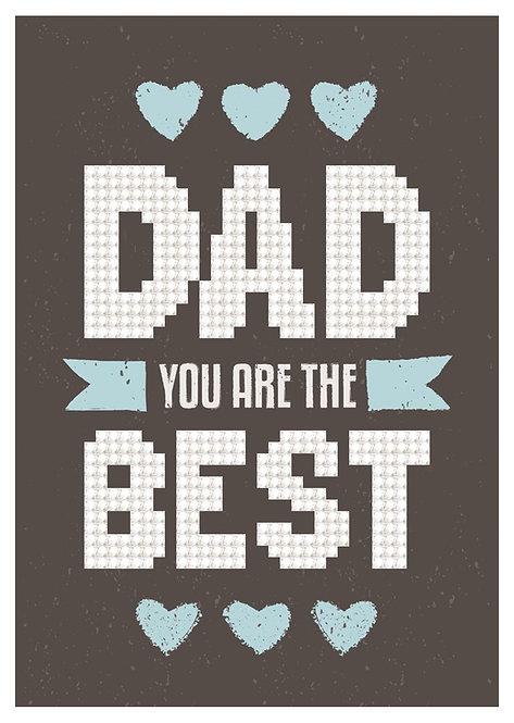 Diamond Dotz Greeting Card - Best Dad (DDG.013)