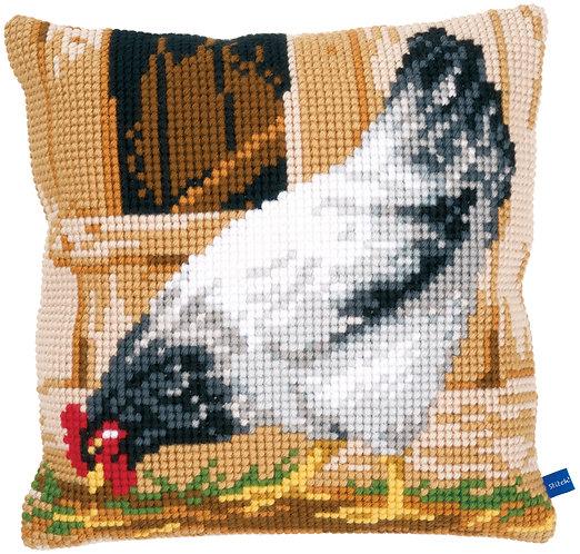 VERVACO Cross Stitch Cushion Kit Grey Hen - PN-0148109