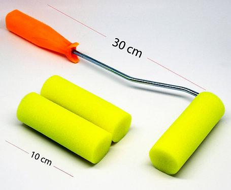 Rich Foam Roller with Metal Handle - 10cm