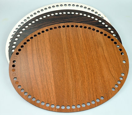 Nurge Oval Wooden Base for Crochet Baskets or Bags 35x25cm