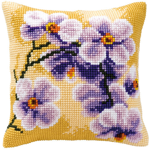 VERVACO Cross Stitch Cushion Kit Orchid - PN-0008488
