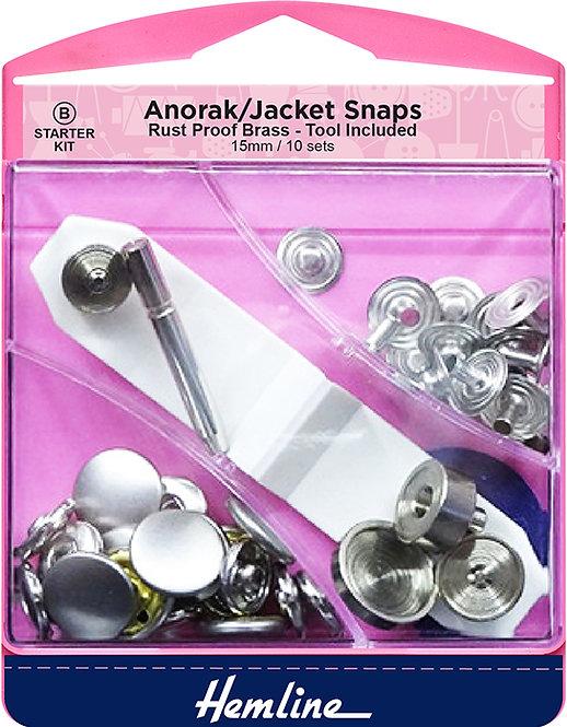 Hemline Jacket Snap (Anorak) - 407.N