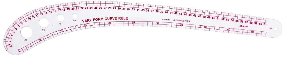 Vary form curve ruler 6261/Ruler