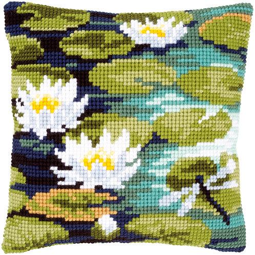 VERVACO Cross Stitch Cushion Kit Water Lilies - PN-0148217