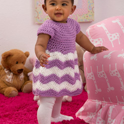Red Heart Super Saver Baby Dress