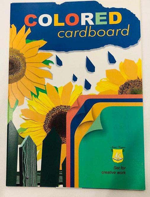 "COLORED CARDBOARD ""SUN FLOWER""-N12"