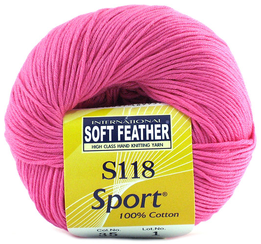 Soft Feather Cotton Sport Yarn S118
