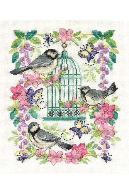 DMC Cross-Stitch Kit Oriental Bird Cage BK1563