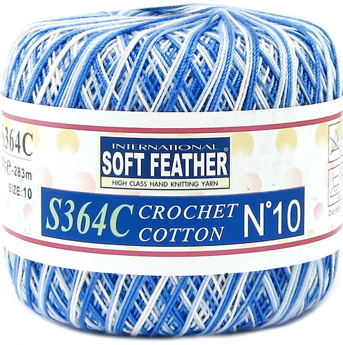 Soft Feather Crochet Cotton Yarn Multi color S364C