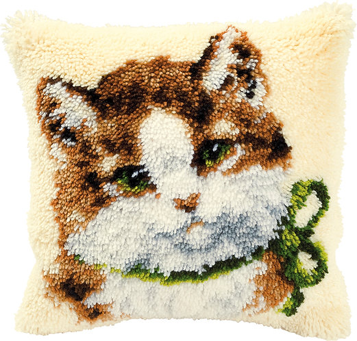VERVACO Latch Hook Cushion Kit Cat - PN-0014138