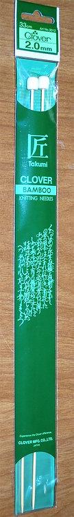 Clover Bamboo Knitting Needles 2mm (3012)