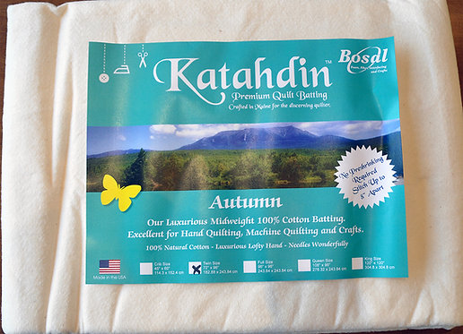 Bosal Katahdin Quilt Batting - Twin Size (396K)