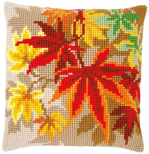 VERVACO Cross Stitch Cushion Kit Autumn Leaves - PN-0157754