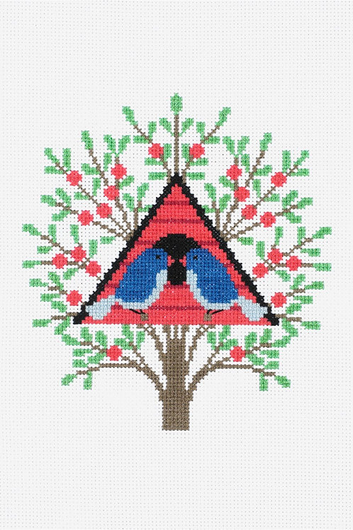 DMC Cross-Stitch Kit Bird House BK1781