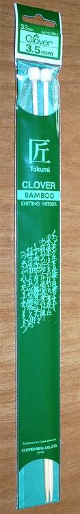 Clover Bamboo Knitting Needles 3.5mm (3012)