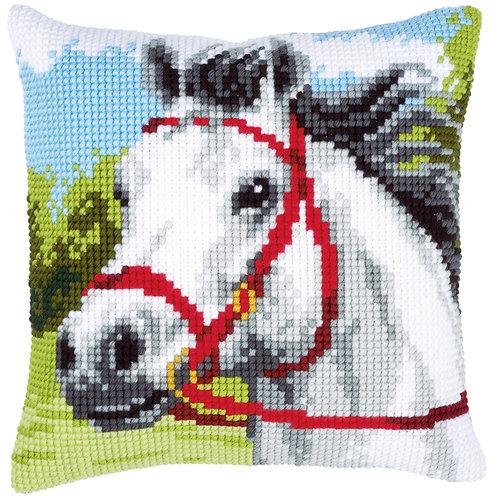 VERVACO Cross Stitch Cushion Kit White Horse - PN-0144434