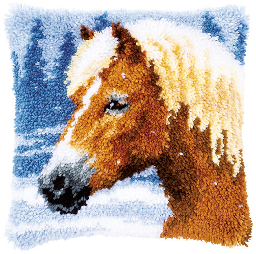 VERVACO Latch Hook Cushion Kit Horse - PN-0178555