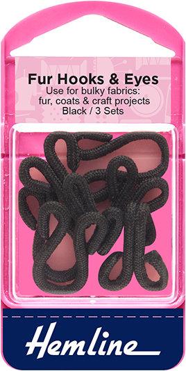 Hemline Fur Hooks and Eyes (402.B)