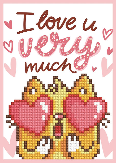 Diamond Dotz Greeting Card - Love You (DDG.002)
