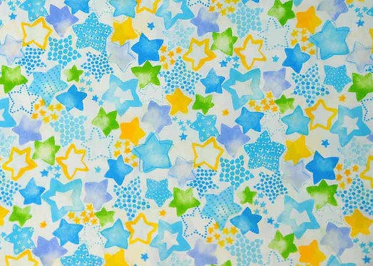 Printed Cotton Patchwork Fabric - 850163