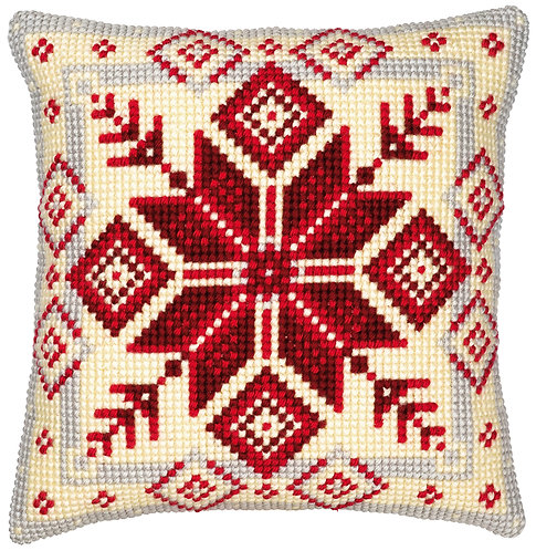 VERVACO Cross Stitch Cushion Kit Nordic Snowflake - PN-0008494