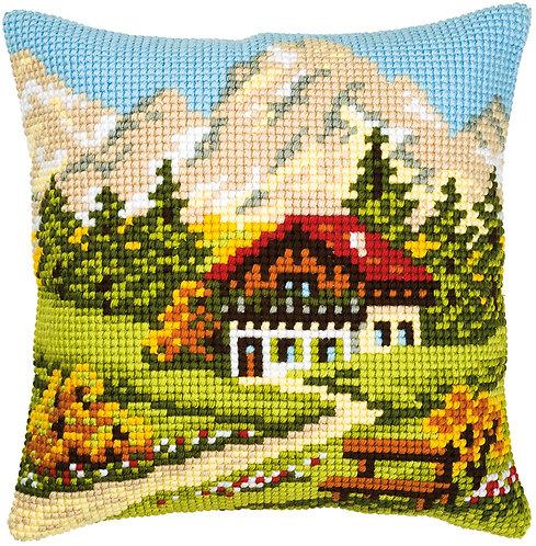 VERVACO Cross Stitch Cushion Kit Mountain Landscape - PN-0008600