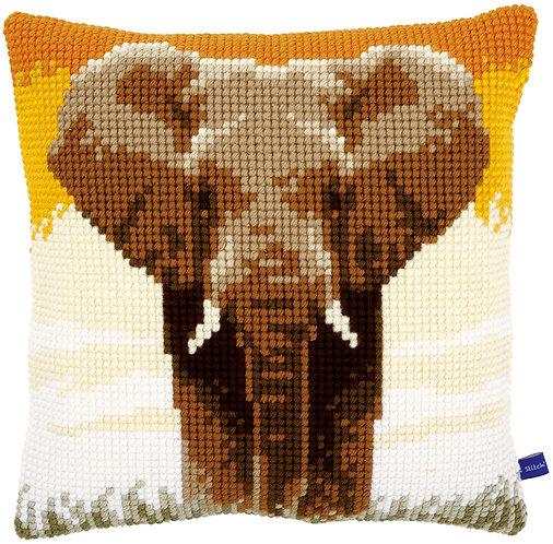 VERVACO Cross Stitch Cushion Kit Elephant in the Savanna - PN-0150043