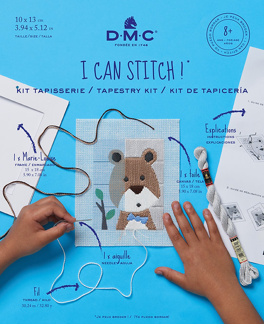 DMC Tapestry Kit BROWN BEAR BK1847