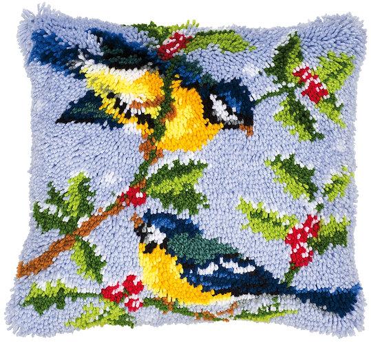 VERVACO Latch Hook Cushion Kit Birds on Tree Branch - PN-0014147