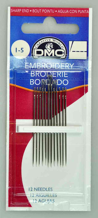 DMC Embroidery Needles Size #1-5 (1765/1)
