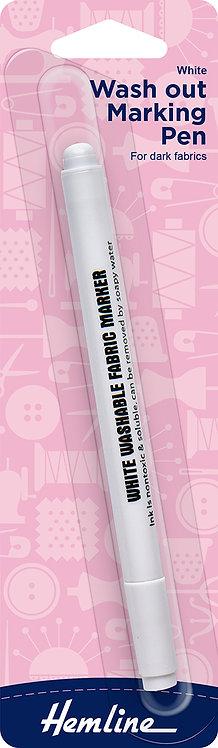 Hemline White Washout Marking Pen (290)