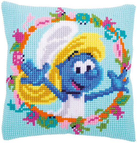VERVACO Cross Stitch Cushion Kit The Smurfs Smurfette - PN-0185160