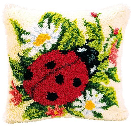 VERVACO Latch Hook Cushion Kit Ladybug - PN-0014137