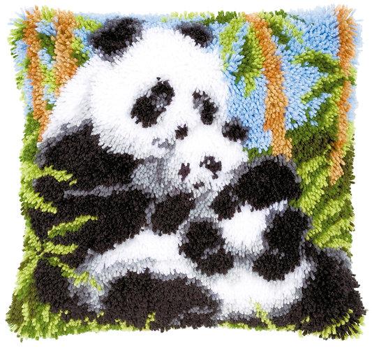VERVACO Latch Hook Cushion Kit Panda Bears - PN-0021853