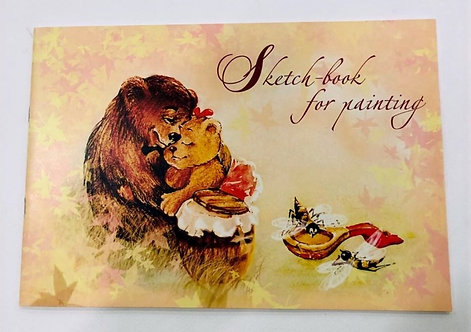 """SKETCH BOOK""""BEARS WITH HONEY""""-ALM1/20"""