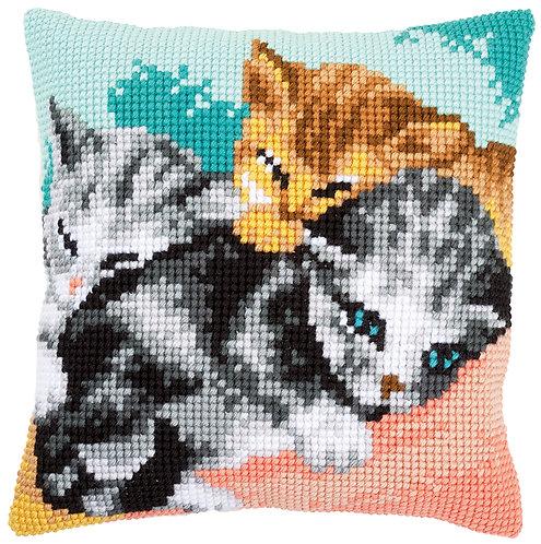VERVACO Cross Stitch Cushion Kit Cute Kittens - PN-0165781