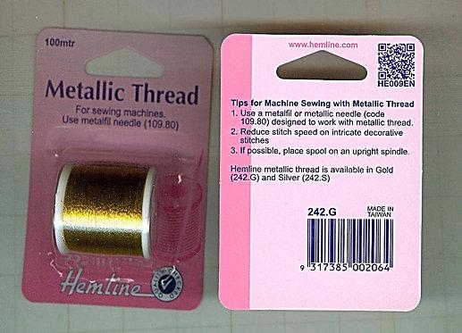 Hemline Metallic Thread (Gold) 242